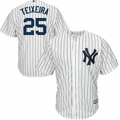 New York Yankees Mlb Mark Teixeira Mens Majestic Cool Base Sewn Player Jersey L
