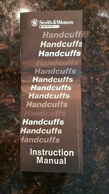 Vintage Smith and Wesson handcuff instruction