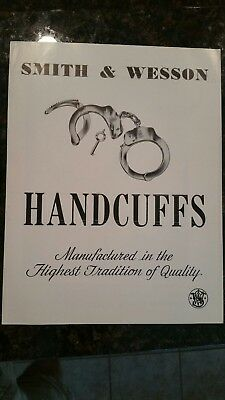 Vintage Smith and Wesson handcuff dealer/ promotional flier