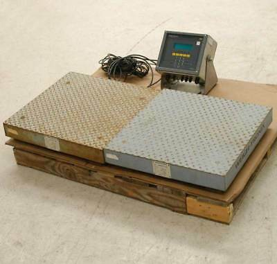 Weigh-Tronix DUAL Platform Floor Scale +Digital Readout Indicator DS2424a WI-130