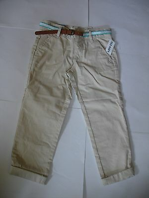 Old Navy girls belted khaki skinny pants size 5 NEW