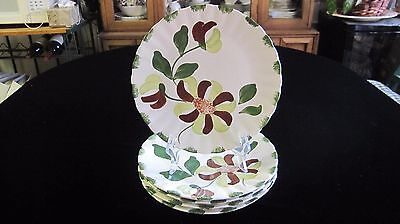 Set of 5 Vintage BLUE RIDGE SOUTHERN POTTERY Luncheon Plate BOW KNOTS ~ Colonial