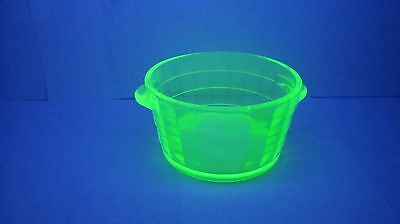 Depression Glass BLOCK OPTIC Butter Tub by ANCHOR HOCKING