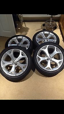 Vauxhall Corsa D Vxr Alloy Wheels And Tyres Only Did 9 Miles. Pristine Condition