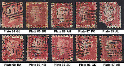10off SG43/44 1d Used Stamps Ideal as 'Gap Fillers' [Cat £33] (1134)