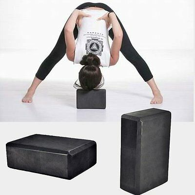 Yoga Block Brick Foaming Foam Exercise Practice Fitness Sport Tool Black Pink DQ