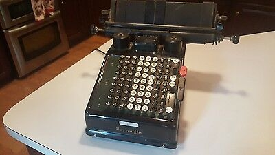 ANTIQUE Vintage  Burroughs Adding Machine Type 3 - First Nation Bank of Akron