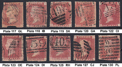 10off SG43/44 1d Used Stamps Ideal as 'Gap Fillers' [Cat £28] (886)