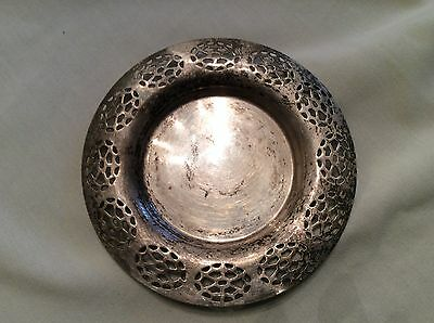 Vintage silver plate pierced wine tray holder