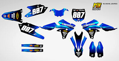 MX Graphics Stickers Kit Decals Yamaha YZ450F and YZ250F 2014 2015 2016