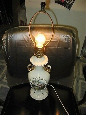 vintage victorian electric table lamp working maybe porcelain urn style art