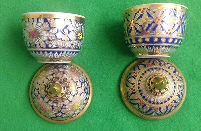 Two Small Indonesian Lidded Pots