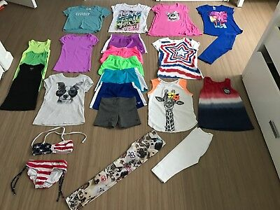 Lot Of Girls Clothes Size 7/8 Shirts, Shirts, Leggings, Justice Abercrombie