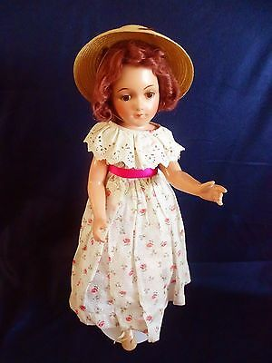 "AWESOME!!! Vintage BIG 22"" Debuteen Composition Doll with Cloth Body."