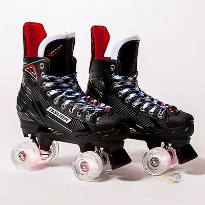 Bauer Quad Roller Skates - Vapor X300 S17 2017 Model - Light up/Flashing Wheels