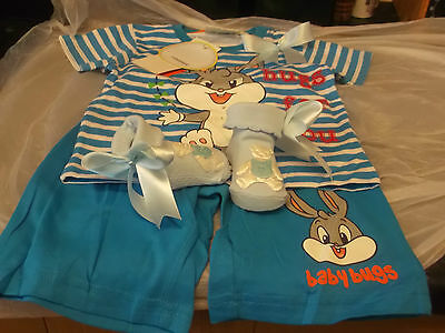 Bnwt Romany Baby Boys Bugs Bunny Outfit Set 12 Months