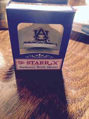 Auburn University Tigers Football Starr Stationary Bottle Opener NEW!!!