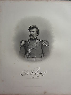 1863 Original American Civil War Print & Biog Brigadier-General Louis Blenker