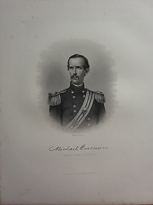 1863 Original American Civil War Print & Biog Brigadier-General Michael Corcoran