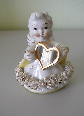 Vintage Blume Angel - Holding a Heart Shaped Lyre with Spaghetti Trim