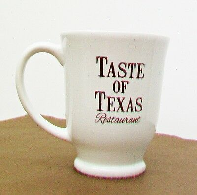 TASTE Of TEXAS Restaurant Ware Pedestal Mug Cup With Davy Crockett 1835 Quote
