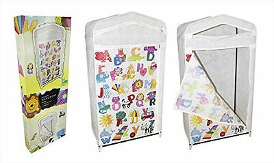 Brand New Non-Woven Kid's Wardrobe Storage Unit With Alphabet Design Printed