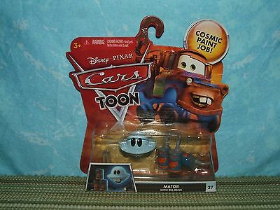 Disney Pixar Cars Toon: MATOR with OIL CANS (NIP) Unidentified Flying Mater