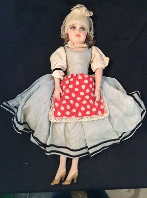 Vintage Paper Mache/ClothSawdust & Composition Hand Painted Face Doll