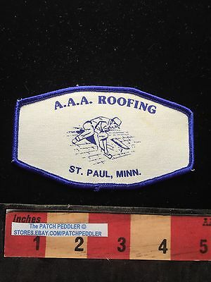 Vtg AAA ROOFING CO. ADVERTISING ST. PAIL MINNESOTA PATCH ~ Roof Roofer 63K5