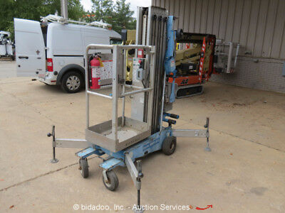 2008 Genie AWP-30S DC AWP 30' Electric Mast Lift Personnel Aerial Stock Picker