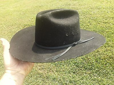 Black Bailey Stampede Size 7 Mens Western Cowboy Hat 100% Wool Made In Usa