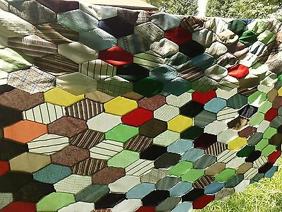 Vintage Hand Sewn Patchwork Quilt Top 64X90 Inches