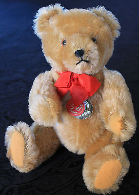 """Hermann Teddy Original Bear, Mohair, 10"""", Paper Tags, Mint, Made in West Germany"""