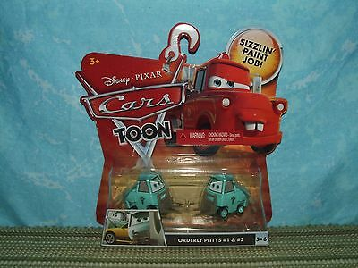 Disney Pixar Cars Toon: ORDERLY PITTIES #1 & 2 (NIB) Rescue Squad Mater