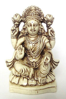 Laxmi large statue Hindu Goddess cream colour wealth fortune free postage