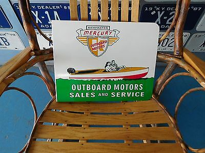 Mercury Outboard Motors Flange Sign Motor Oil