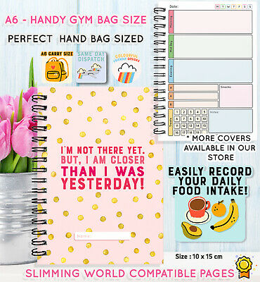 Diet Diary, Weight Loss Buddy, Notebook, Tracker, Slimming, Extra, Easy, Spots