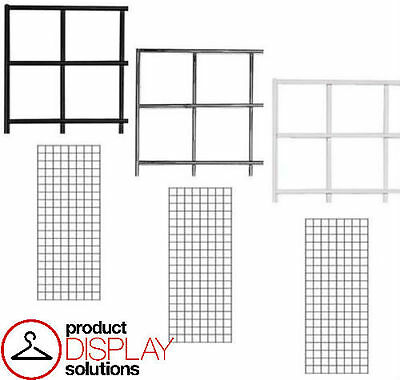 FREE SHIPPING! 2' x 6'  Grid Gridwall Panels BLACK, WHITE, or CHROME | Case of 3