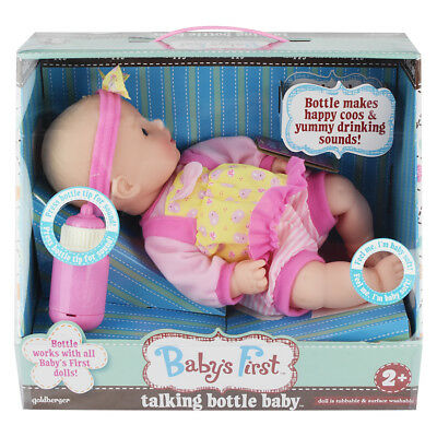 Baby's First 14 Inch Classic Talking Bottle Baby - NEW
