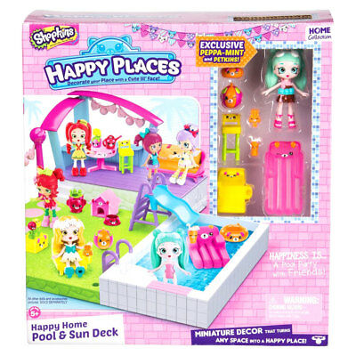 Happy Places Shopkins Pool Playset - NEW