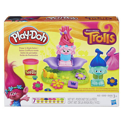 Play-Doh Dreamworks Trolls Press 'N Style Salon - NEW