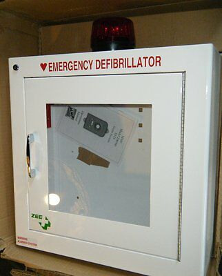 Zee Medical AED Wall Cabinet with Alarm & Keys ~ NEW