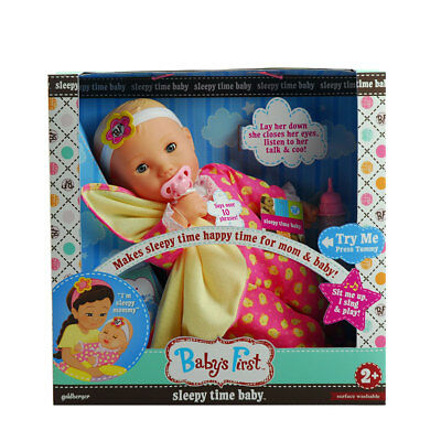 Baby's First Sleepy Time Baby - NEW