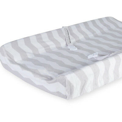 Babies R Us Deluxe Change Pad Cover - White & Grey Chevron - NEW