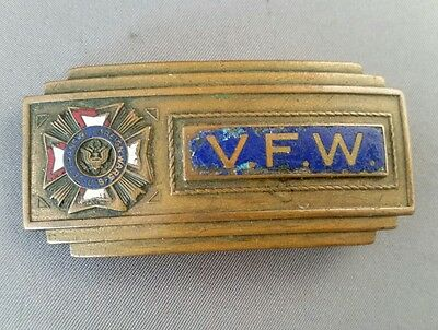 Gold Tone Veterans Of Foreign Wars (V.F.W.) Belt Buckle