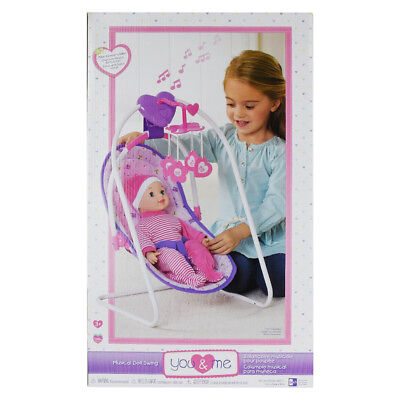 You & Me Musical Doll Swing - NEW