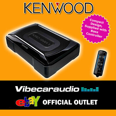Kenwood KSC-SW11 150W Compact Active Under Seat Shallow Sub Woofer Amplifier