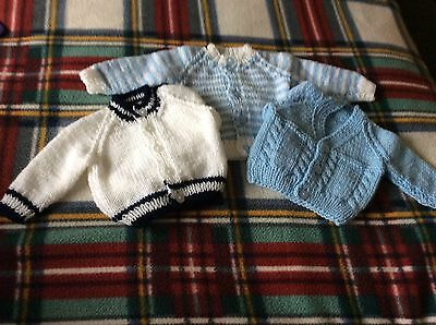 New Baby Set Of 3 Cardigans 0-3 Months