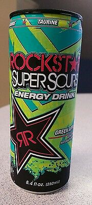Rockstar  Super Sours Green Apple 24/8.4fl oz cans RARE CAN SIZE DISCONTINUED