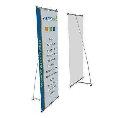L Banner Stand 2.6' x 6.6' - Trade Show Exhibition Retail Banner Stand Display